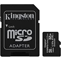 Kingston Canvas Select Plus 32GB microSD Card Class 10 UHS-I speeds up to 100MB/s with Adapter (SDCS2/32GBIN)