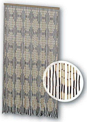 Tenda moschiera 120x230 cm mod. bamboo con filamenti in bamboo naturale