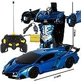 ZXCMNB Modèle De Jouet Transformers Robot Télécommande Voiture Transformé Statuette/Cadeaux De Voiture Souvenirs Collections Artisanat Cadeaux De Vacances (Color : D)