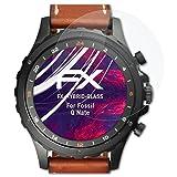 atFoliX Kunststoffglas Folie Fossil Q Nate Glasfolie - FX-Hybrid-Glass Elastische 9H Kunststoff Panzerglasfolie - Besser als Echtglas Panzerfolie