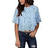 Weant T Shirt Magliette Donna Pizzo Elegante Crop Top Eleganti Vest Sexy Moda Camiciola Tumblr Top Tank Top Ragazza Estive Manica Corta Estivi Pullover Tops Casual Moda Camicie Tops Blusa