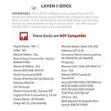 LAYEN i-DOCK 4.1 Bluetooth-Funkadapter Stereo-Musikempfänger. AptX & Dual Pair. Stream von Ihrem Smartphone, Tablet oder Laptop (nicht für Autos geeignet) Vergleich