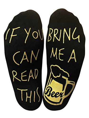 If you can read this bring me a beer Funny Ankle Socks for a Beer Lover