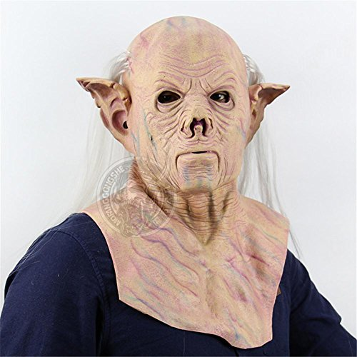 SQCOOL Halloween Alien Maske Scared Whole Sets von Latex Bar Haunted Haus verkleiden sich (Frau Kostüm Pharao)