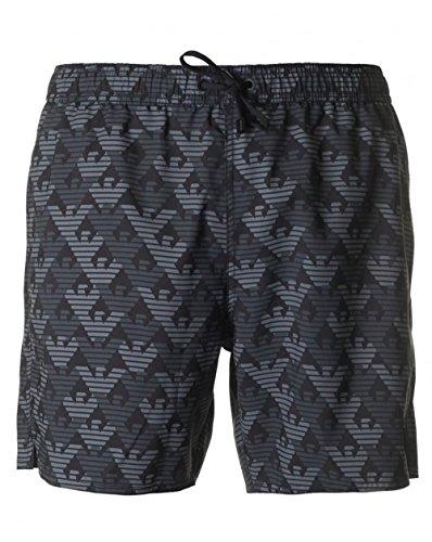 Ea7 Swimwear Seaworld All Over Eagle Logo Swim Shorts Large BLACK