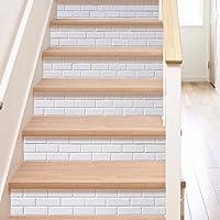 Frolahouse 6pcs Wall Decals Treppenhaus Europäischen Stil Mode Weiß DIY  Renoviert Treppe Aufkleber   Schlafzimmer Wandbilder