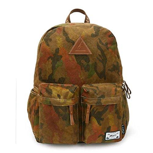 DANNY BEAR Zaini Tela Ragazze Ragazzi Adolescente Fashion Pack Leater Viaggio Escursionismo College Bookbag Daypack Casual(Kaki)