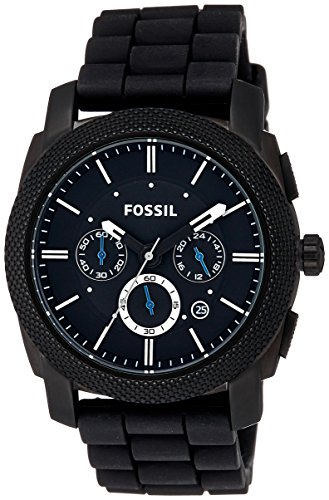 Fossil Machine Chronograph Analog Black Dial Men's Watch - FS4487