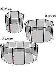 Ampel 24 Trampolin Sicherheitsnetz | Ersatznetz 183 cm - 490 cm für 6 - 12 Stangen | UV-beständig | extrem reißfest | Netz außenliegend