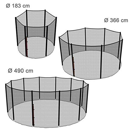Ampel 24 Trampolin Sicherheitsnetz | Ersatznetz 490 cm für 12 Pfosten | UV-beständig | extrem reißfest