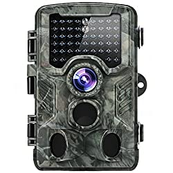 Distianert Trail Camera Wildlife Camera Low Glow Black Infrared Game Scouting Camera Deer Camera 80 Foot Detection Range for Wildlife Monitoring and Home Security