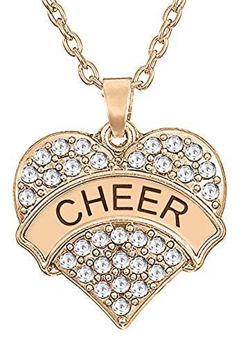 GLAM Cheerleader Anhänger Halskette Schmuck Geschenke für Mädchen und Teenager (Rotgold)