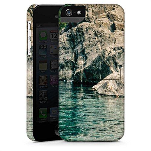Apple iPhone X Silikon Hülle Case Schutzhülle Felsen Meer Bucht Premium Case StandUp