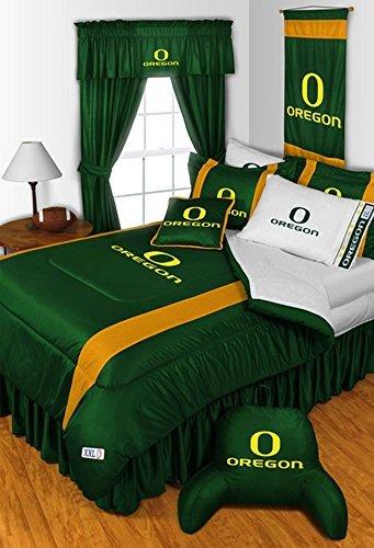 Oregon Ducks 7 PIECE QUEEN BEDDING SET,