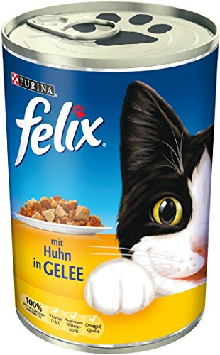 Felix Katzenfutter mit Huhn in Gelee, 400 g
