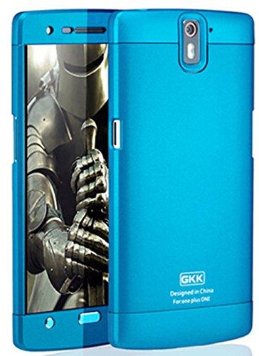 Heartly GKK Double Dip Flip Hard Shell Premium Bumper Back Case Cover For OnePlus One 4G - Blue Blue Blue