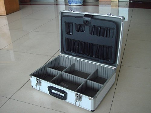 TrendLine Werkzeugkoffer, mit Alu-Rahmen Alukoffer Werkzeugkiste Werkzeugkasten