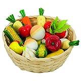Goki 51662 - Kaufläden und Zubehör - Gemüse im Korb