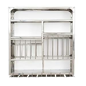 Vidya Steels Medium Stainless Steel Plate Rack For Kitchen (30X30)