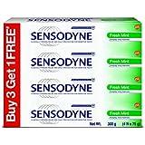 Sensodyne Sensitive Toothpaste Combi Pack - 75 g (Fresh Mint, Buy 3 Get 1 Free)