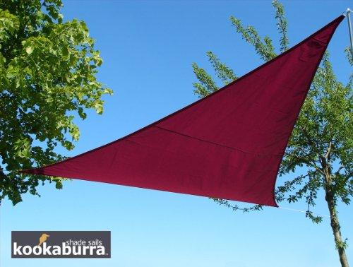 Voile d'Ombrage Bordeaux Triangle 5m - Imperméable - 160g/m2 - Kookaburra