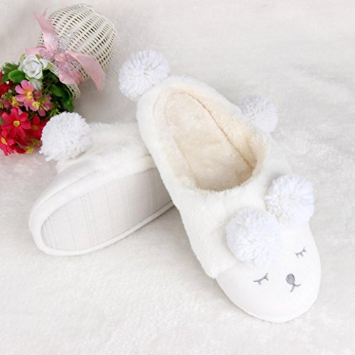 Clode®  Clode-bf-001042, Chaussons pour femme rose rose vif 36 EU Blanc