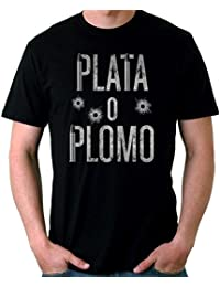35mm - Camiseta Hombre Plata o Plomo-Narcos-Pablo Escobar