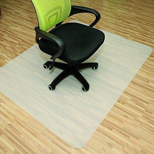 Rapid Teck Bodenschutzmatten 120cm x 150cm für Hartböden in 6 Größen Bürostuhlunterlage Bodenschutzmatte Semi transparent