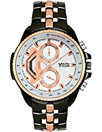 Youth Club BRACELET STYLE WHITE DIAL CASUAL Watch For Men-HK-4050CPRBLK