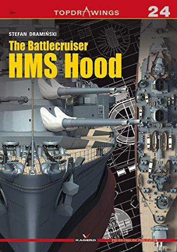 The Battlecruiser HMS Hood (Top Drawings) por Stefan Draminski