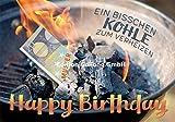 Glückwunschkarte zum Geburtstag ~ Ein bißchen Kohle zum verheizen ~ Geldscheinkarte