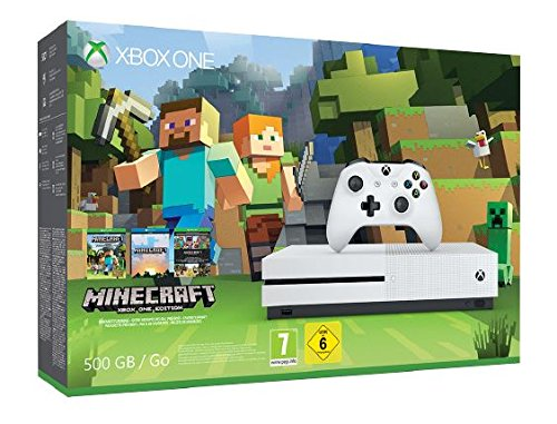 Xbox One S 500GB Konsole - Minecraft Bundle