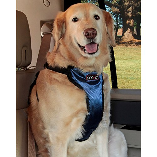 Solvit PetSafe Happy Ride Deluxe Car Harness for Dogs – Adjustable, Multiple Sizes, Includes Seat Belt Tether