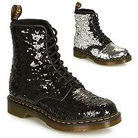 Dr. Martens 1460 Women's Boots Black / Silver Sequin  Color: BLACK / SILVER SEQUIN  Technology: AirWair