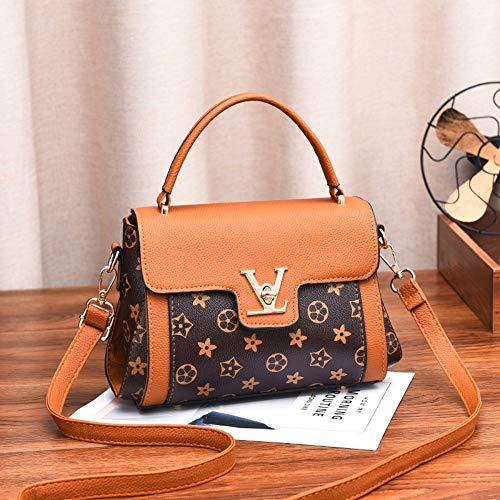 da80495d991a7 WOAIRAN Frauen Umhängetasche Mode Pu Vintage Druck Kleine Quadratische  Tasche Umhängetasche Damen Handtasche Messenger Bags Gelb