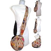 Borsa a tracolla Elefanti. Una piccola borsa alla moda. diventa GIGANTE. Salva centinaia di sacchetti di plastica. Multi-Purpose. Pulibile.