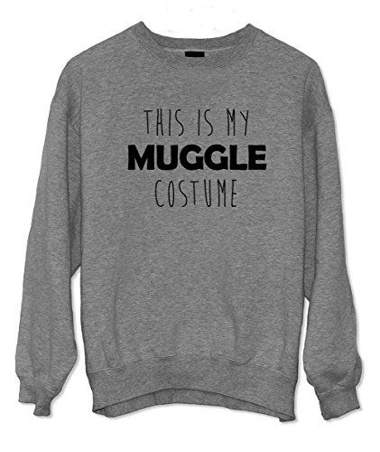 This Is My Muggle Costume Divertente Felpa Grigio Large