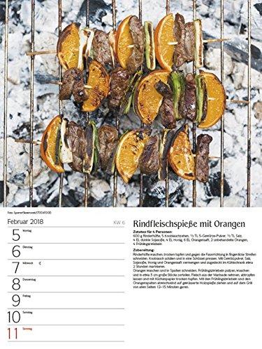510IalSkabL - Genussvoll Grillen 2018: Foto-Wochenkalender