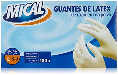 Mical - Guantes latex examen polvo - Talla L - 100