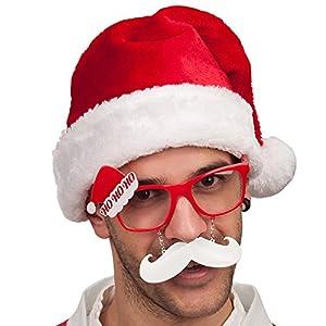 Carnival Toys 6930-Papá Noel Gafas con Barba