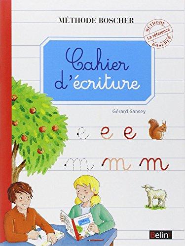 Boscher Cahier d'criture