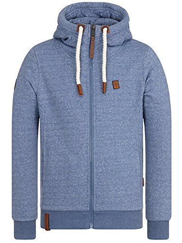 Naketano Male Zipped Jacket Raketa in Hose III pablo powder blue melange