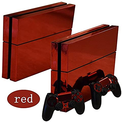 Red Glossy Decal Sticker Skin autocollant for Playstation 4 PS4 Console Controllers …