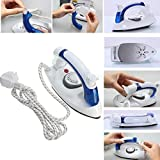 #7: Auslese™ Travel Folding Handel Flat iron with Steam Vapor Portable Mini Electrical Steam Iron Press-700 Watt
