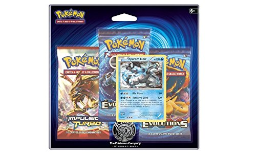 Pack 3 boosters Pokémon + Carte promo Kyurem noir - XY 12 - Evolutions