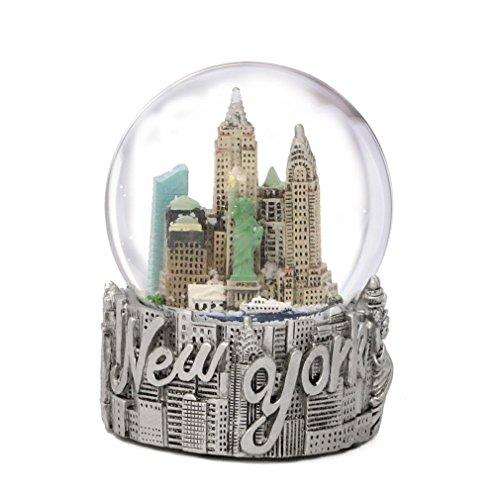 ZIZO USA Klassischer und exklusiver Schneekugel New York City Silber 65mm -