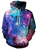 Sweatshirt avec capuche Galaxy 3D avec poches unisexes (Modèle 2 - Taille XL)