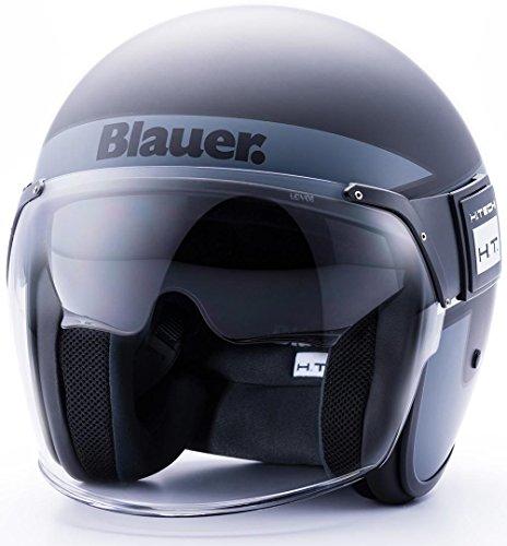 Blauer HT Casco Pod Stripes Black-Titanium-White Matt M