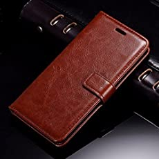 Thinkzy Artificial Leather Flip Cover Case for 10. or E/Tenor E (Brown)