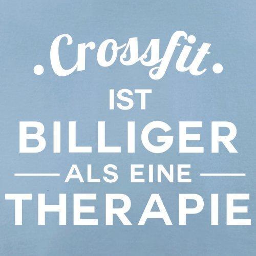 Crossfit ist billiger als eine Therapie - Damen T-Shirt - 14 Farben Himmelblau